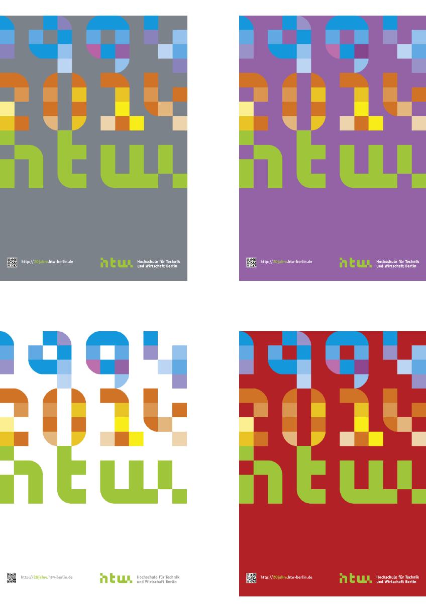 Plakatserie 20 Jahre HTW