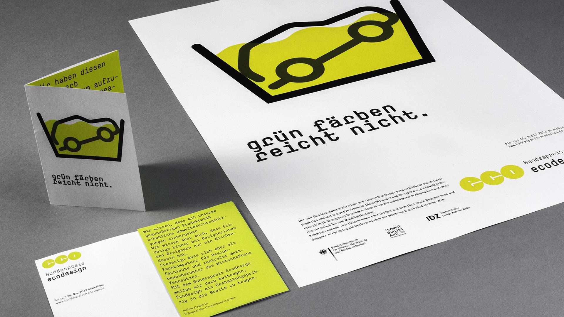 Ecodesign Plakat und Flyer