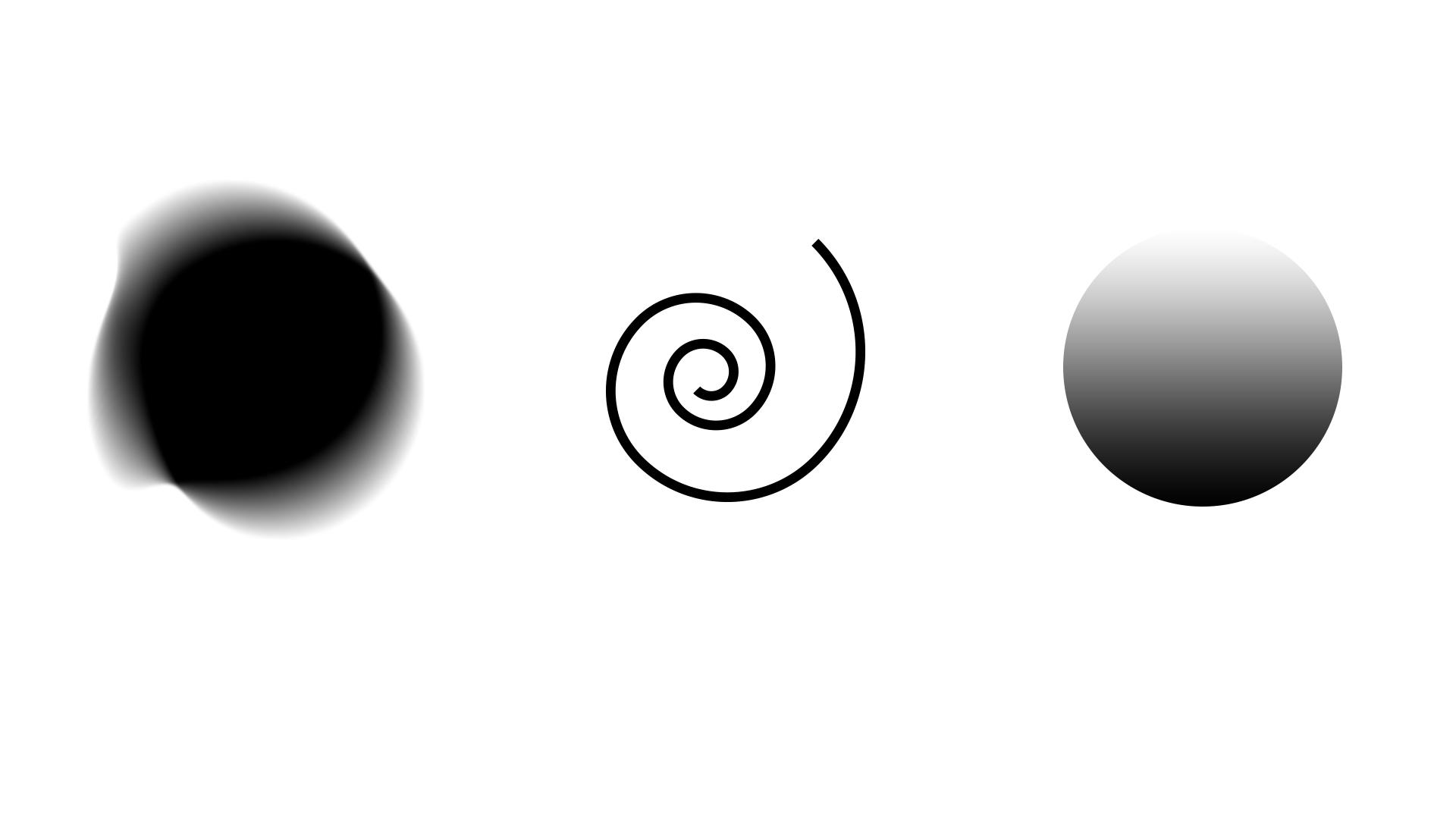 Verschiedene Kreisformen des dynamischen Logos von Culiner Creative Circle
