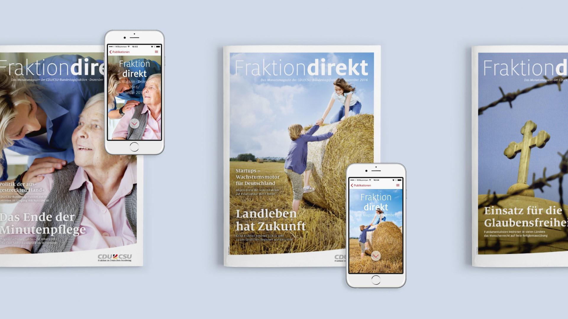 »Fraktion direkt als App und Printausgabe«